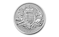 Great Britain 2021 £2 1-oz Silver Royal Arms Brilliant Uncirculated