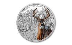 2021 Canada $30 2-oz Silver Imposing Icons: White-Tailed Deer Colorized Gem Proof
