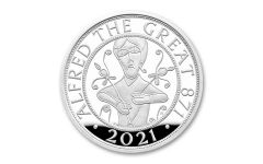 Great Britain 2021 £5 Silver Alfred the Great Proof