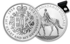 2021 Canada & Great Britain 1-oz Silver Royal 95th Birthday Celebration Proof 2-pc Set