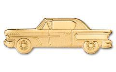 Palau Golden Classic Car 1/2g Gold Silk Finish $1 Coin GEM BU OGP