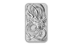 2021 Australia $1 1-oz Silver Dragon Bar BU