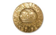 2021 Palau $5 1-oz Silver Inca Sun God Ultra High Relief Gilt Gem BU