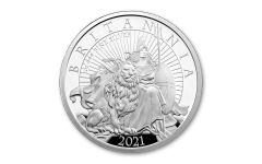 2021 Great Britain £2 1-oz Silver Britannia Proof