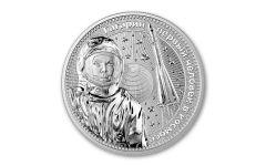 2021 Germania Mint 1 oz Silver Interkosmos: Gagarin 10 Victories GEM BU