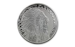 2021 1-oz Silver Liberty Trade Buffalo Round Reverse Proof