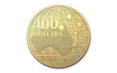Australia 2021 $100 1oz Gold Beneath the Southern Skies Platypus BU