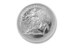St Helena 2021 £1 1oz Silver Una and Lion Brilliant Uncirculated