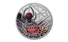 Australia 2021 $1 1oz Silver Redback Spider Colorized Proof