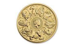 2021 Great Britain £100 1-oz Gold Queen's Beasts Completer BU