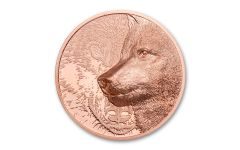 Mongolia 2021 Mystic Wolf Ultra High Relief 50g Copper Prooflike COIN