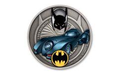 2021 Niue $2 1-oz Silver 1989 Batmobile Colorized & Antiqued Coin BU