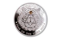 2022 Ghana 2 Cedis 1/2-oz Silver Lunar Year of the Tiger Proof