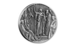 2020 Niue $2 2-oz Biblical Coin Series: Christ in the Synagogue High Relief Antiqued Proof