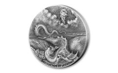 2020 Niue $2 2-oz Biblical Coin Series: Destruction of Leviathan High Relief Antiqued Proof