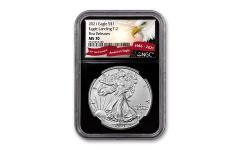 2021 $1 1oz Silver Eagle T2 NGC MS70 First Releases Black Core Exclusive Eagle Label