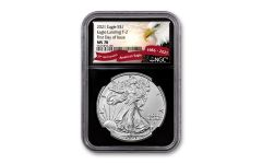2021 $1 1oz Silver Eagle T2 NGC MS70 First Day of Issue Black Core Exclusive Eagle Label
