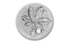 2021 Germania Mint 1-oz Silver Mythical Forest: Chestnut Leaf Medal Gem BU
