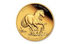 2021 Australia $100 1-oz Gold Brumby Horse Proof