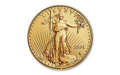 2021 $50 1-oz Gold Eagle Type 2 BU