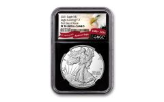 2021-W $1 1-oz Silver Eagle Type 2 Proof NGC PF70UC First Day of Issue w/Black Core & Eagle Label