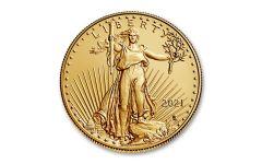 2021 $10 1/4-oz Gold Eagle Type 2 BU