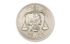 Intaglio Mint 1-oz Silver Zombie Zodiac: Libra Medal Gem BU