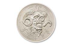 Intaglio Mint 1 oz Silver Zombie Zodiac Aries Medal GEM BU