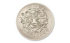 Intaglio Mint 1 oz Silver Zombie Zodiac Aquarius Medal GEM BU