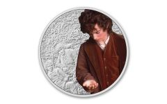 2021 Niue $2 1-oz Silver Lord of the Rings™ – Frodo Colorized Gem Proof