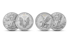 2021 American Silver Eagle T-1 & T-2 New Heritage 2-pc Set Gem BU Blisterpack