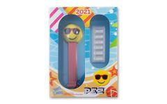 PAMP 5-gm Silver PEZ Wafers Reverse Proof 6-pc Set w/Chillin' Sunglasses Emoji Dispenser