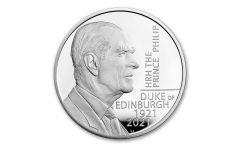 2021 Great Britain £5 28.28-gm Silver Prince Phillip, Duke of Edinburgh Proof