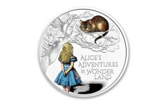 Great Britain 2021 £2 1-oz Silver Alice's Adventures in Wonderland Colorized Proof