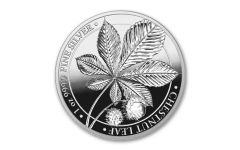 2021 Germania Mint 1-oz Silver Mythical Forest: Chestnut Leaf Medal Proof