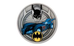 2021 Niue $2 1-oz Silver 1997 Batmobile Colorized & Antiqued Coin BU