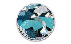 2021 Niue Alice in Wonderland - Alice 1 oz Colorized Proof Silver $2 Coin GEM Proof OGP