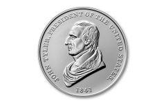 2021 1-oz Silver John Tyler Presidential Medal Gem BU