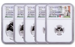 2021-Mo Mexico Proof Silver Libertad 5-Coin Set NGC PF70 UC FR Exclusive Mexico Label with OGP