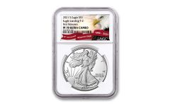 2021-S $1 1-oz Silver Eagle Type 2 Proof NGC PF70UC First Releases w/Eagle Label