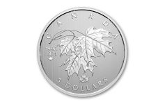 2021 Canada $5 1/4-oz Silver Moments to Hold: 25th Anniversary of Canada's Arboreal Emblem Modified Gem Specimen