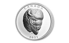 Canada 2021 1 oz Silver Buffalo Extraordinary High Relief $25 Coin GEM Proof OGP