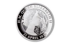 2021 Australia $1 1-oz Silver 95th Birthday of Queen Elizabeth II Proof