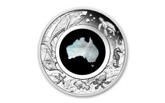 Australia 2021 $1 1-oz Silver Great Southern Land Mother Of Pearl Proof