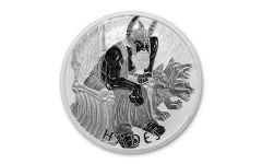 2021 Tuvalu $1 1-oz Silver Gods of Olympus Hades BU