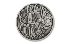 2021 Tuvalu $1 1-oz Silver Gods of Olympus Hades Antiqued