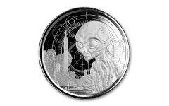 2021 Ghana $5 1-oz Silver Alien Gem BU