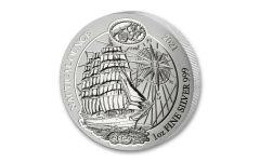 2021 Rwanda 50 Francs 1-oz Silver Nautical Sedov Gem BU
