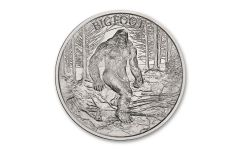 2021 Intaglio Mint 1-oz Silver Bigfoot High Relief Medal Gem BU