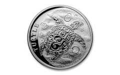 Niue 2021 $2 1oz Silver Hawksbill Turtle GEM BU